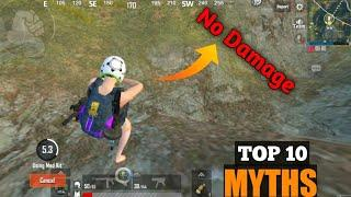 TOP 10 MYTHBUSTER IN PUBG MOBILE LITE || HOW TO FLY IN PUBG LITE | PUBG LITE MYTHS