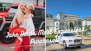 Top 10 Jake Paul Most Expensive Purchases | Jake Paul Girlfriend | Calabasas House #JakePaul