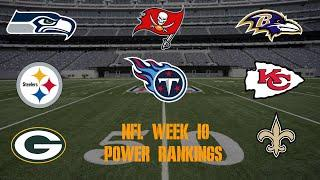 Top 10 NFL Power Rankings Week 10