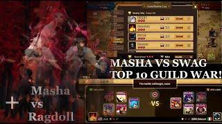 Summoners war: Masha the fire Beast Rider in top 10 guild wars!