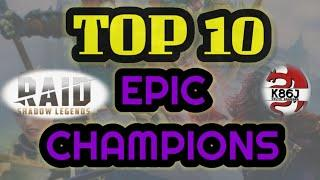 RAID: Shadow Legends Top 10 Epic Champions