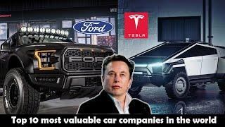 Top 10 most valuable car companies in the world in 2020