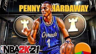 NBA 2K21 6'6 SPEED 99 PENNY HARDAWAY ISO Build / 55 Badges