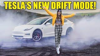 TESLA INTRODUCES NEW DRIFT MODE... AND IT ABSOLUTELY RIPS!!