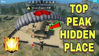 Top Secret Hiding Place In Peak In Free Fire || Top Hiding Place In Free Fire || GameTech Tamilan