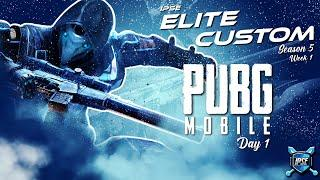 PUBG Mobile Live India | IPSe ELITE CUSTOMS | Day 1 | Team IPSe | Titanium gaming
