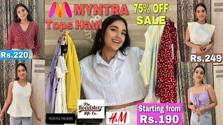 MYNTRA Trendy Tops Haul | Starting From Rs.190 | Upto 80% Off | Tops Haul | Affordable Tops Haul |