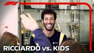 Daniel Ricciardo Goes Back To School! Kids Interview F1 Driver