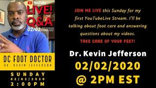 Q&A with the DC Foot Doctor: My First Livestream!