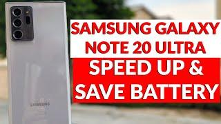 Samsung Galaxy Note 20 First Things To Do To Save Battery Life & Speed Up