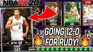 NBA 2K20 MYTEAM UNLIMITED GOING 12-0 FOR GALAXY OPAL RUDY & GALAXY OPAL JERRY LUCAS!