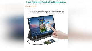 """TOP 8 15.6"""" Portable Monitor Touchscreen built in Battery Slimmest 10-Point Touch screen Review"""