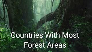 Top 10 countries with most forest area
