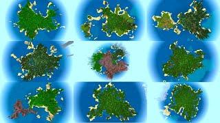 10 HUGE Island Seeds For Minecraft Bedrock Edition (PE, PS4, Xbox, Switch, W10)