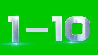 Green screen countdown effect।Green screen countdown। Top10 COUNTDOWN Green screen video HD।Counting