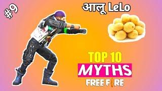 Patato in Free Fire || Top 10 Mythbusters in Free Fire Battleground || Garena Free Fire Myths #8