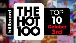 Early Release! Billboard Hot 100 Top 10 Singles  (October 3rd, 2020) Countdown
