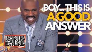 A GOOD ANSWER - A GREAT ANSWER LOL! Steve Harvey Family Feud USA
