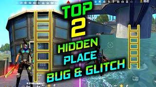 FREE FIRE TOP 2 HIDDEN PLACE IN BERMUDA 2.0 || RANK PUSH SECRET PLACE IN DAM 2021
