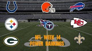 Top 10 NFL Power Rankings Week 14