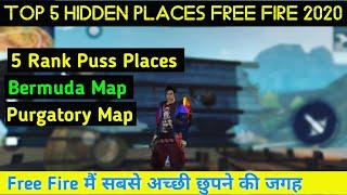 Top 5 New Hidden Places In Garena Free Fire 2020    Best Heroic Rank Push Places in Free Fire 2020