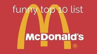 McDonald's food top 10 list (funny)