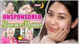 My UNSPONSORED Skincare Routine | Morning & Night In Depth Routine For Clear Skin | ThatQuirkyMiss