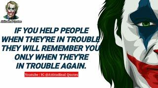 RICH MEN NEVER GETS OLD IN GIRL'S EYE | LIFE RULES #1 |Joker quotes 2020
