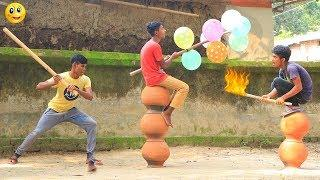 New Top Funny Comedy Video 2020__Very Funny Stupid Boys__Episode--123--Indian Fun || ME Tv