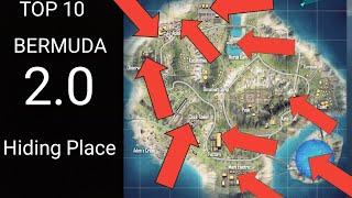Top 10 hiding place to push rank/bermuda remastered hidden places