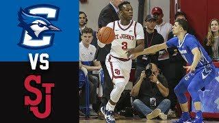 #10 Creighton vs St  John's Highlights 2020 College Basketball
