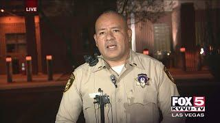 Las Vegas police press conference on shooting involving off-duty police officer near Las Vegas Strip