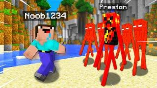 Top 10 Ways to PRANK Noob1234 As A MOB! (Preston Minecraft)