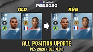 All Update Position PES 2020 DLC 4.0 (Winter Update)