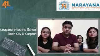 Narayana e-Techno School South city 2 || ONLINE LIVE CLASSES  || Top 10 schools in Gurgaon