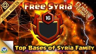 Godly Bases Of Syria Family | Top 15 Base Free Syria Th13 | Anti 3 Star Town Hall 13 Base