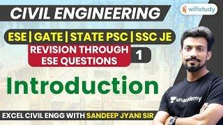 10 PM - ESE, GATE, STATE PSC, SSC JE 2019-20 | Civil Engg by Sandeep Sir | Introduction