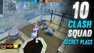 TOP 10 CLASH SQUAD SECRET PLACE IN FREE FIRE | CLASH SQUAD TIPS AND TRICKS IN FREE FIRE