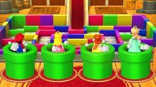 Mario Party 10 Minigames - Mario vs Peach vs Daisy vs Rosalina (Very Hard Difficulty)