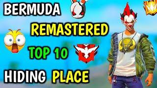 Bermuda Remastered Top 10 Hiding Place And Tips And Trick || Garena Free Fire
