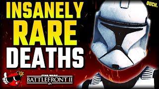 10 DEATHS You've RARELY Seen - Star Wars Battlefront 2