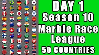 Marble Race League 2020 Season 10 Day 1 Marble Point Race in Algodoo / Marble Race King