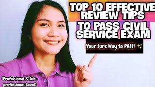 TOP 10 CIVIL SERVICE EXAM REVIEW TIPS | PROFESSIONAL & SUB-PROFESSIONAL LEVEL | NAYUMI CEE ✨