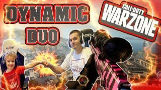 *WORLD'S BEST* 5 YEAR OLD & DAD - Father/Son DUO - Warzone Stimulus Duo Dubs!!! RowdyRogan #FaZe5