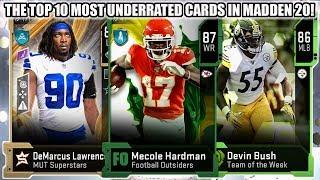 THE TOP 10 MOST UNDERRATED CARDS YOU NEED IN MADDEN 20! | MADDEN 20 ULTIMATE TEAM
