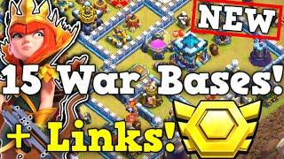 TOP 15 TH13 CWL BASES WITH LINKS! CHOOSE ANTI 2, ANTI 3, OR BOTH! | Town Hall 13 War Base + Link!