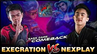 Comeback! Execration Squad vs. Nexplay Full Squad in Rank   Gameplay by EXE Hate ~ Mobile Legends