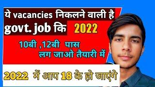 Top 12 Government jobs || government job vacancy || government job after 10th and 12th pass ..