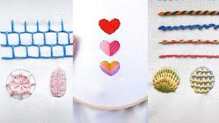 Top 10 Amazing DIY Ideas - Top 12 Stitches In Hand Embroidery | Tutorial For Beginners