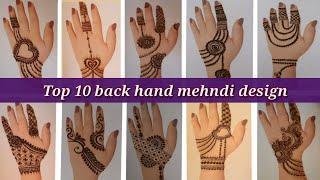Top 10 back hand mehndi designs 2021   simple and beautiful jewellery mehndi designs   MehndiArt4You